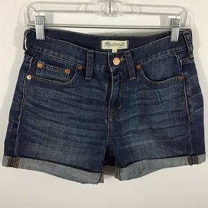 Madewell Denim Boyshorts Cutoff Jean Shorts Sz 24
